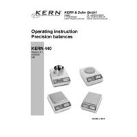 Kern 440 Precision Balances - Operating Instructions