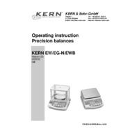 Kern EG Series - Operating Instructions