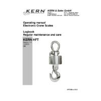 Kern HFT Professional Wireless Crane Scales - Operating Instructions