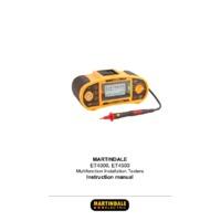 Martindale ET4000 Multifunction Tester - User Manual