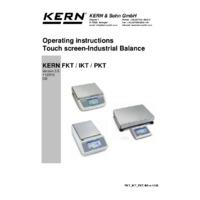 Kern IKT Platform Scales - Operating Instructions