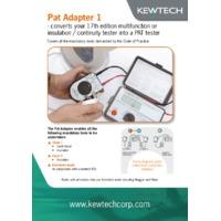 Kewtech PAT Adaptor - Datasheet