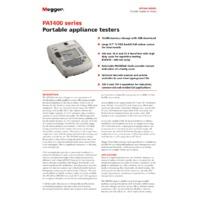 Megger PAT450 PAT Tester - Datasheet
