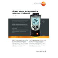 Testo 810 Thermometer - Datasheet