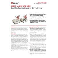Megger KF-LAB MkII Oil Tester - Datasheet