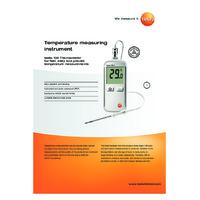 Testo 108-2 Thermometer - Datasheet