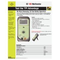 TPI 100 Digital Multimeter - Datasheet