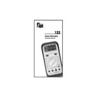 TPI 133 Digital Multimeter - Operating Instructions