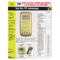 TPI 194 Digital Multimeter - Datasheet