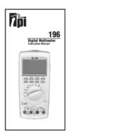 TPI 196 Digital Multimeter - User Manual