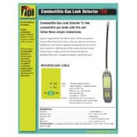 TPI 725L Pocket Combustible Gas Leak Detector - Datasheet