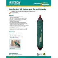 Extech DVA30 Non-Contact AC Voltage & Current Detector - Datasheet