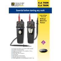 Chauvin Arnoux CA740N Voltage Absence Tester - Datasheet