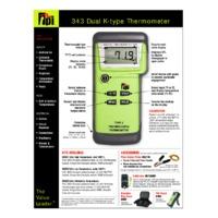 TPI 343 Dual Input Digital Thermometer - Datasheet