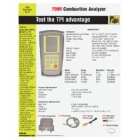 TPI 709R Combustion Analyser - Datasheet