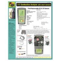 TPI 717R Flue Gas Analyser - Datasheet