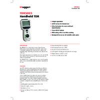 Megger TDR500-3 Time Domain Reflectometer - Datasheet