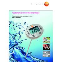 Testo 05601113 Mini Waterproof Penetration Thermometer - Datasheet