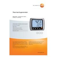 Testo 608-H1 Temperature & Humidity Monitor - Datasheet
