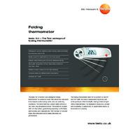 Testo 104 Thermometer - Datasheet