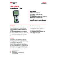 Megger TDR 1000-3 Time Domain Reflectometer - Datasheet