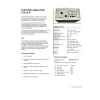 Megger T22-13 Burn Down Unit - Datasheet