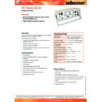 Megger HVTEST-25 Portable High Voltage Generator - Datasheet