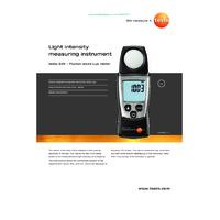 Testo 540 Pocket Light Meter - Datasheet