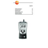 Testo 511 Absolute Pressure Meter - User Manual