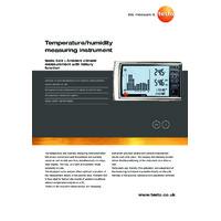 Testo 623 Temperature & Humidity Monitor - Datasheet