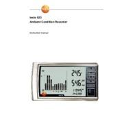 Testo 623 Temperature & Humidity Monitor - User Manual