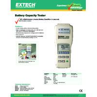 Extech BT100 Battery Tester - Datasheet