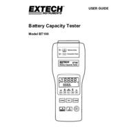 Extech BT100 Battery Tester - User Manual