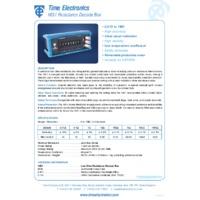 Time Electronics 1051 Resistance Decade Box - Datasheet
