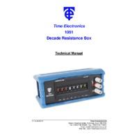 Time Electronics 1051 Resistance Decade Box - User Manual