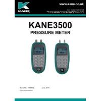 Kane 3500-15 Differential Pressure Meter - User Manual