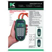 Kane 3500-2 Differential Pressure Meter - Datasheet