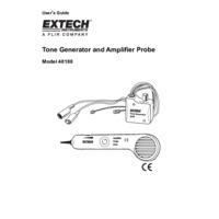 Extech 40180 Tone Generator and Amplifier Probe Kit - User Manual