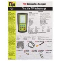TPI 716 Flue Gas Combustion Analyser - Datasheet