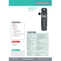 Kewtech KEW337 Light Meter - Datasheet