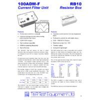 T & R RB10 Resistor Box - Datasheet