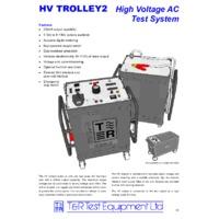 T & R Dual Unit HV Test Trolley - Datasheet