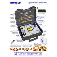 T & R DMO200 Digital Micro-Ohmmeter - Datasheet