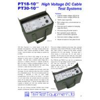 T & R PT18-10 mk2 High Voltage DC Cable Test System - Datasheet