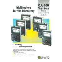 Chauvin Arnoux CA401 Ammeter Analogue