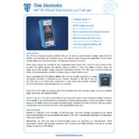 Time Electronics 1007 DC Millivolt Potentiometer & Calibrator - Datasheet