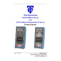 Time Electronics 1007 DC Millivolt Potentiometer & Calibrator - User Manual