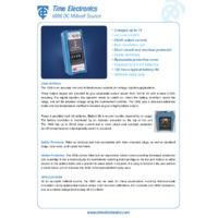Time Electronics 1006 DC Millivolt Source - Datasheet