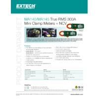 Extech MA410 True RMS AC Clamp Meter - Datasheet