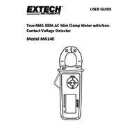 Extech MA410 True RMS AC Clamp Meter - User Manual